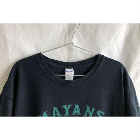 """【used】""""mayans  m.c."""" official T-shirts  - L / black-  (OM-216-53)"""