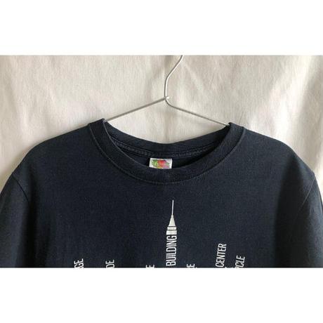 "【u.s. vintage / FRUIT OF THE LOOM】""new york city"" print T-shirts  -S / black- (OM-216-55)"