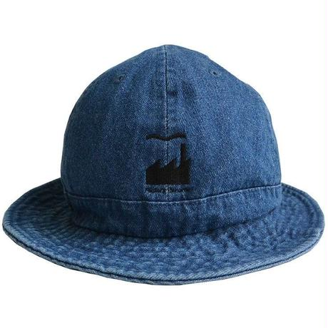 """E-yang""  Factory records / ""us army"" denim hat / Vintage Indigo Blue  -S/M & L/XL size-(emh.fac.I)"