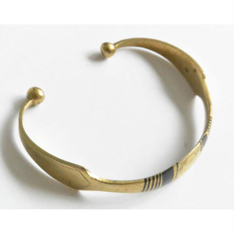 """【Restock !】""""African・Touareg(トゥアレグ族) Hand Made"""" Metal Bangle -gold- (AS-19A)"""