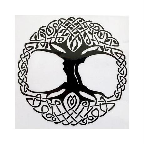 """tree of life"" black sticker  -12.5 × 12.5cm- (ar215-13)"