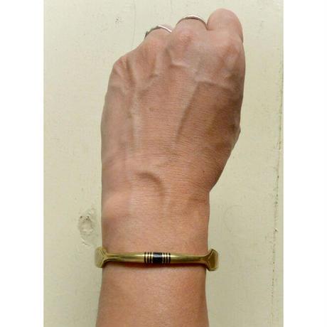 "【Restock !】""African・Touareg(トゥアレグ族) Hand Made"" Metal Bangle -gold- (AS-19B)"