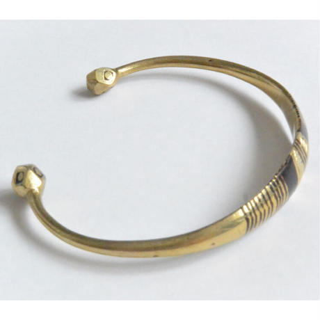 """【Restock !】""""African・Touareg(トゥアレグ族) Hand Made"""" Metal Bangle -gold- (AS-19G)"""