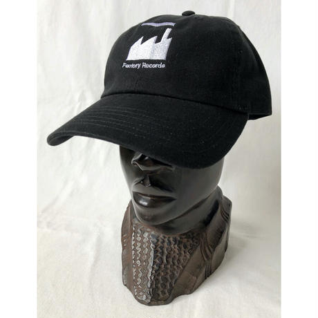 """""""Factory Records"""" / Washed Twill Low Cap / black (luz.fac.b)"""