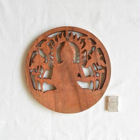 """buddha"" wood ornament (so002)"