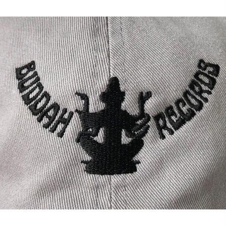 """Buddah Records"" / Washed Twill Low Cap / gray (luz.bu.g)"
