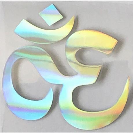 """""""om"""" reflector sticker -110.5 × 10.3cm / silver- (ar215-15)"""