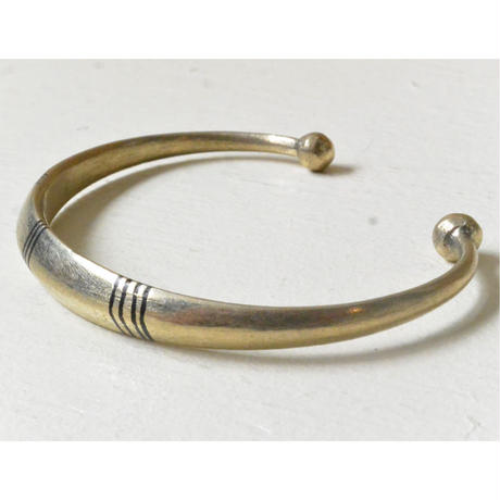 "【Restock !】""African・Touareg(トゥアレグ族) Hand Made"" Metal Bangle -gold- (AS-18C)"
