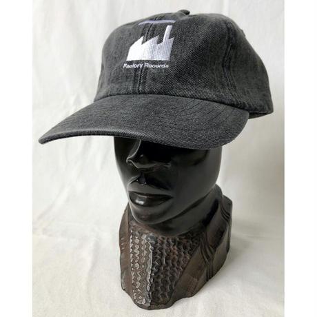 """Factory Records"" / Washed Denim Low Cap /  vintage black  (luz.fac.bd)"