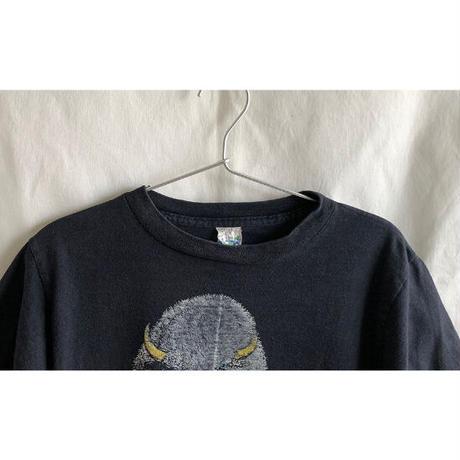"【 80's vintage/ u.s.made /alore】""colorado.buffalo "" native  T-shirts  -S  / black- (OM-216-22)"