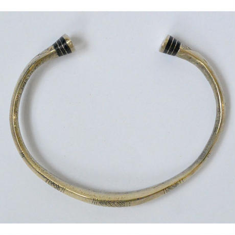 """【Restock !】""""African・Touareg(トゥアレグ族) Hand Made"""" Metal Bangle -Silver-  (AS-12)"""