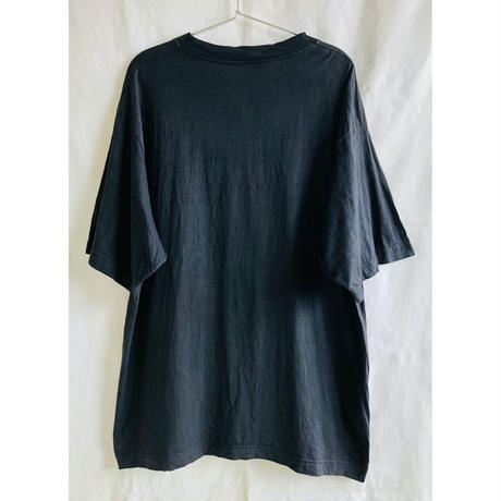 "【90's germany vintage】""Rammstein / bück dich!"" rock T shirts -XL / black-  (OM-216-48)"