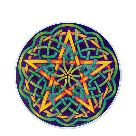 "【 starshine arts 】fiona mcauliffe ""celtic pentagram"" sticker (ss-3)"