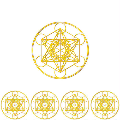 """metatron"" gold sticker -5 piece set-  (sst003-3)"