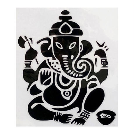 """ganesha"" black sticker  -15.5 × 11.5cm- (ar215-17)"