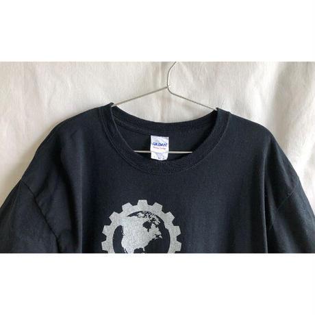 """【US. vintage】""""planet fitness"""" T-shirts -L / black- (OM-216-44)"""