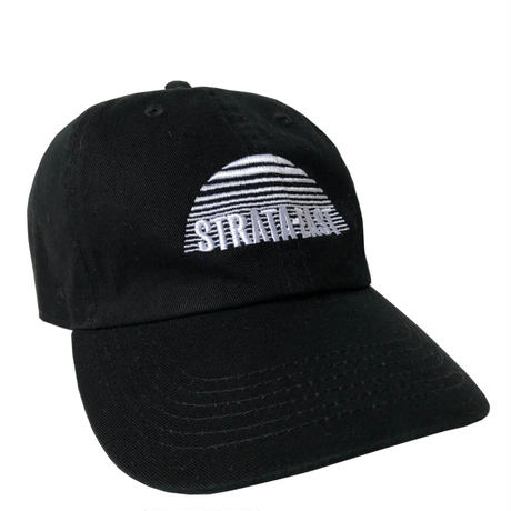 """""""Strata-East Records"""" / Washed Twill Low Cap / black (luz.st.b)"""