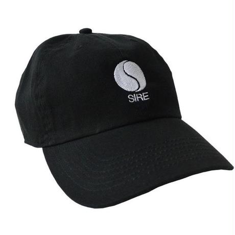 """Sire Records"" / Washed Twill Low Cap / Black (luz.si.b)"