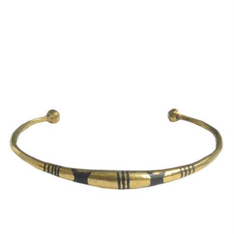 "【Restock !】""African・Touareg(トゥアレグ族) Hand Made"" Metal Bangle -gold- (AS-19E)"