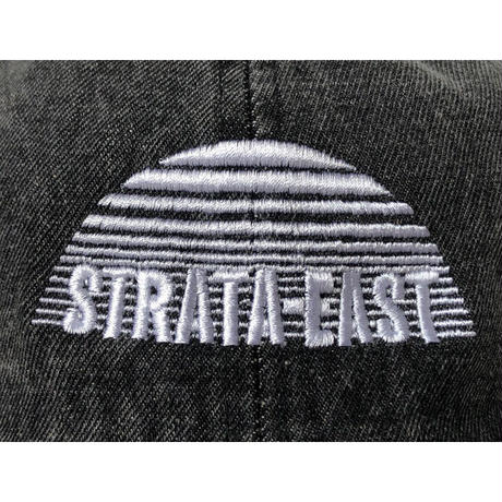 """Strata-East Records"" / Washed Denim Low Cap / vintage black  (luz.st.bd)"
