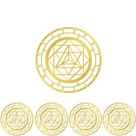 """""""merkabah"""" gold sticker -5 piece set-  (sst003-4)"""