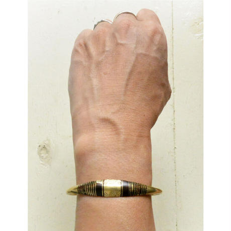 """【Restock !】""""African・Touareg(トゥアレグ族) Hand Made"""" Metal Bangle -gold- (AS-19H)"""