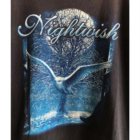 "【used / FRUIT OF THE LOOM】""Nightwish"" rock T shirts  -XXL / black- (OM-216-45)"