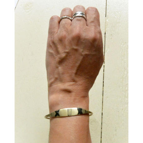 """【Restock !】""""African・Touareg(トゥアレグ族) Hand Made"""" Metal Bangle -gold- (AS-19D)"""