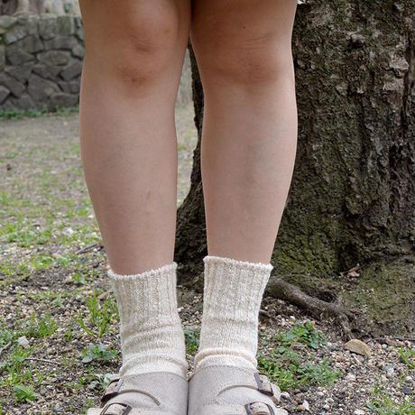 "Restock ! ""organic garden"" ガラボウ アンクル ソックス (natural/生成り) 22-24cm & 25-27cm (oa_nat)"