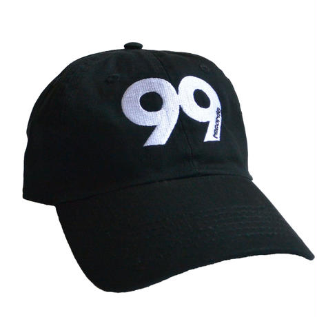 """99 records"" / Washed Twill Low Cap / Black (luz.99.c)"