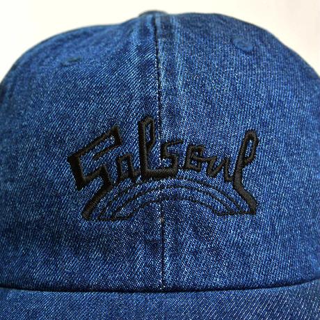 """""""Salsoul Records"""" / Washed  Denim Low Cap / Indigo Blue (luz.sal.ib)"""