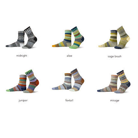 """【solmate socks】 crew socks -high desert- """"juniper / S & M size"""" (so-c-5)"""