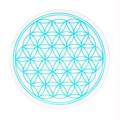 """flower of life"" sticker blue (sst002-5)"