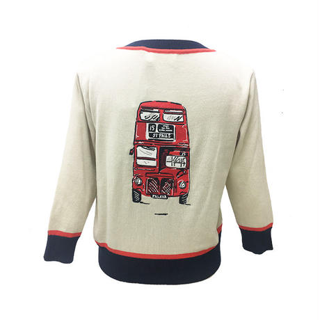 classic cardigan/london bus/cream
