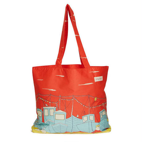 cotton shopper/boats/red