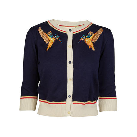 classic cardigan/kingfisher/navy