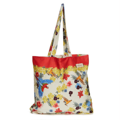 tencel shopper/tropical birds/cream