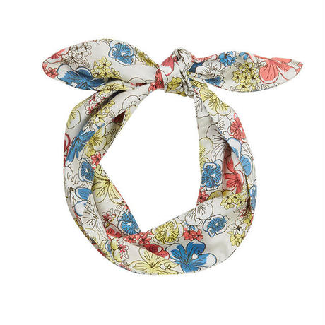 tencel hair tie/hibiscus heaven/cream