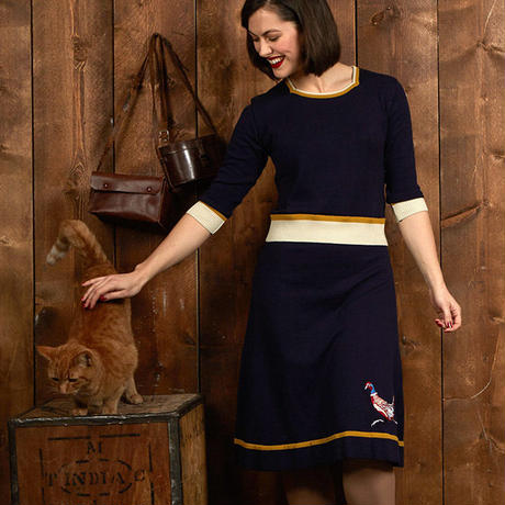 otti/embroidered pheasant/navy