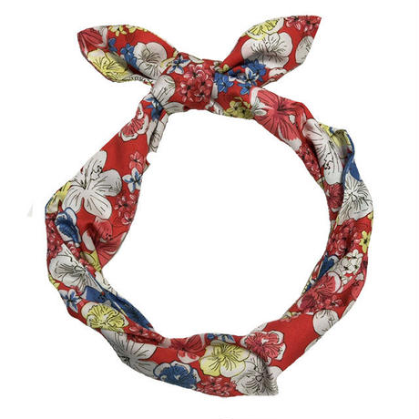 tencel hair tie/hibiscus heaven/red