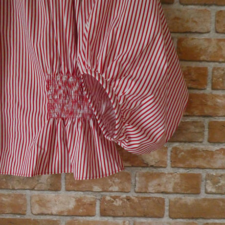 【期間限定・受注生産】LYS -fantasia for your dress- Marie Blouse stripe [red]