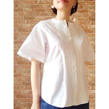 【受注生産/約2ヶ月後のお届け】LYS -fantasia for your dress- ピンタックブラウス [white]
