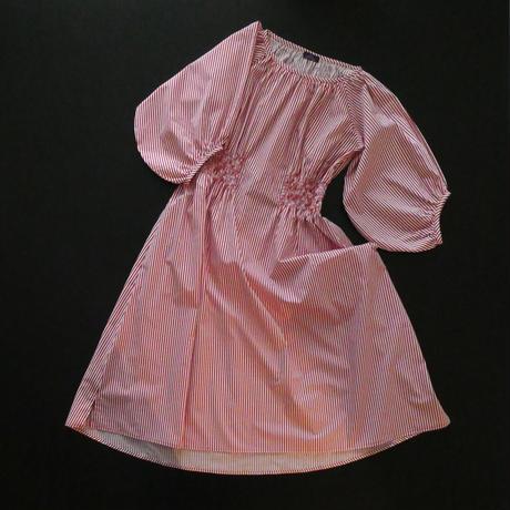 【期間限定・受注生産】LYS -fantasia for your dress- Marie Dress stripe  [red]