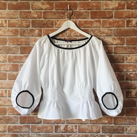 【受注生産/オーダー承りから約1ヶ月後のお届け】LYS -fantasia for your dress- Marie ブラウス  [white/black]