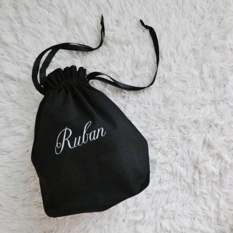 MARBLE & Co. Rubanのマチつき巾着 [black]