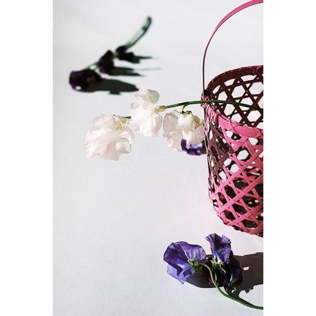 花器籠バッグ牡丹