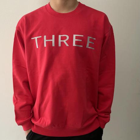 THREE  2nd reflector sweat RED