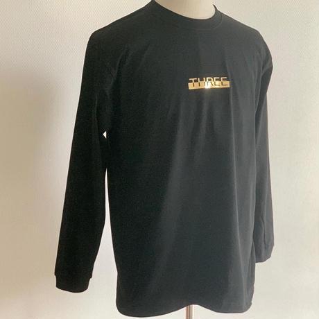 Gold Logo long T-shirt Black