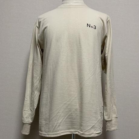 THREE  No. long sleeve T-shirt Sand Beige