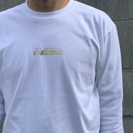 Gold Logo long T-shirt White